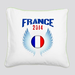 Soccer FRANCE 2014 Wings Square Canvas Pillow