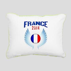 Soccer FRANCE 2014 Wings Rectangular Canvas Pillow