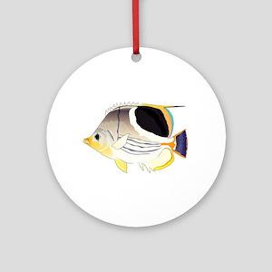 Saddleback Butterflyfish Ornament (Round)