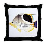 Saddleback Butterflyfish Throw Pillow
