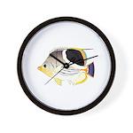 Saddleback Butterflyfish Wall Clock