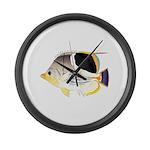 Saddleback Butterflyfish Large Wall Clock