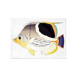 Saddleback Butterflyfish 5'x7'Area Rug