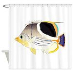 Saddleback Butterflyfish Shower Curtain