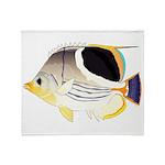 Saddleback Butterflyfish Throw Blanket
