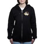 Saddleback Butterflyfish C Women's Zip Hoodie