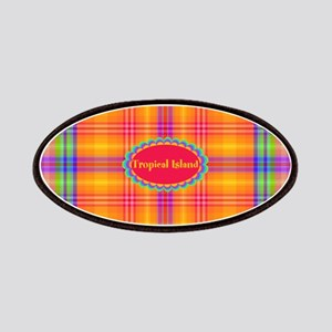 Tropical Island Plaid Patches