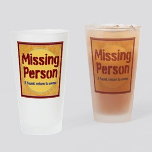 Missing Person Drinking Glass