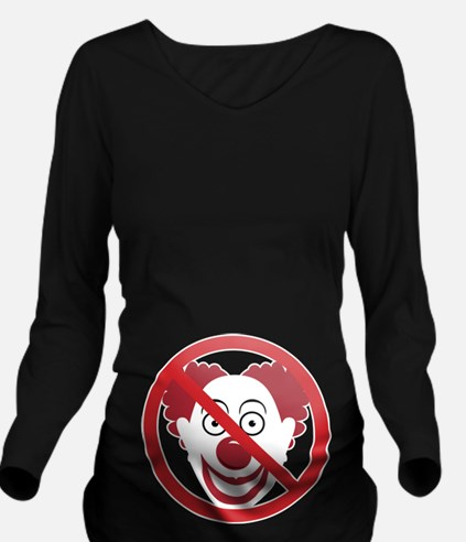 No Bozos Symbol Long Sleeve Maternity T-Shirt