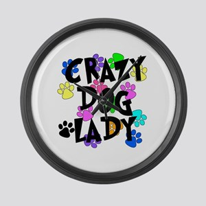 Crazy Dog Lady Large Wall Clock