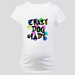 Crazy Dog Lady Maternity T-Shirt