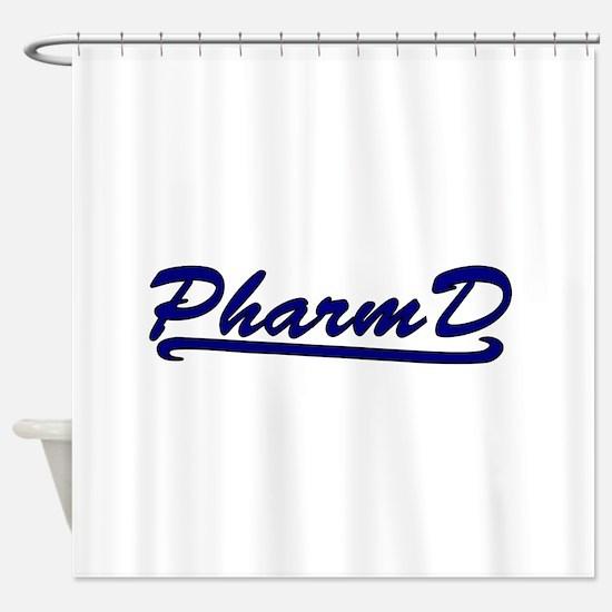 blue pharmd Shower Curtain