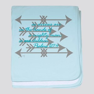 Psalm 127:4 baby blanket