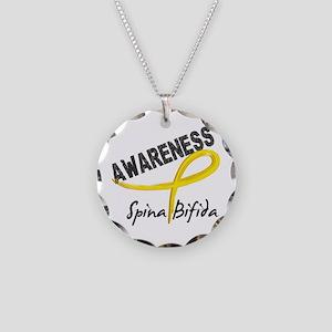 Spina Bifida Awareness3 Necklace Circle Charm