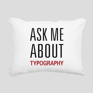 asktypo Rectangular Canvas Pillow