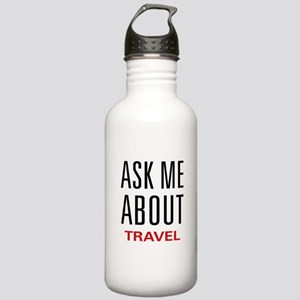 Ask Me About Travel Stainless Water Bottle 1.0L