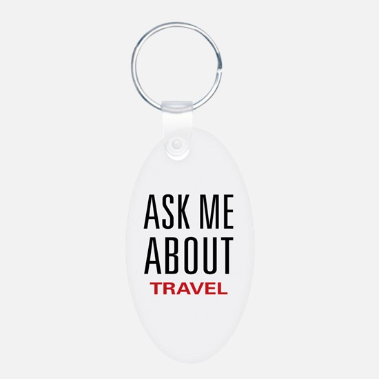 Ask Me About Travel Keychains