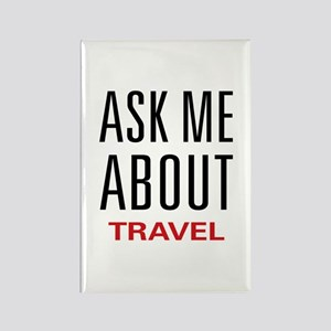 Ask Me About Travel Rectangle Magnet