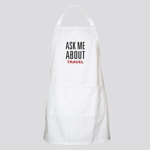 Ask Me About Travel BBQ Apron