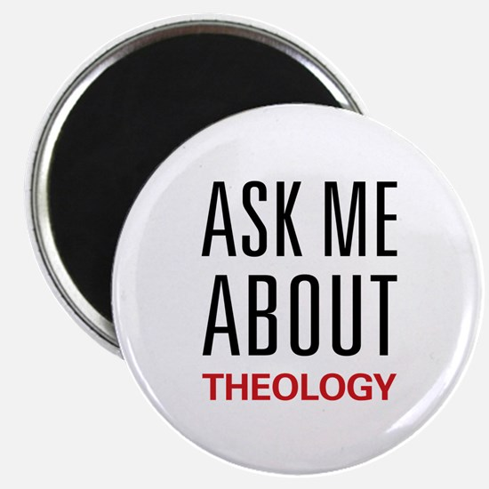 """Ask Me About Theology 2.25"""" Magnet (100 pack)"""