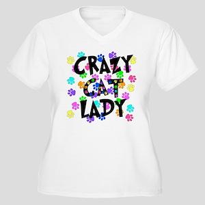 Crazy Cat Lady Women's Plus Size V-Neck T-Shirt