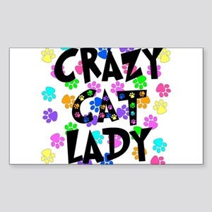 Crazy Cat Lady Sticker (Rectangle)