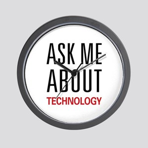 Ask Me About Technology Wall Clock