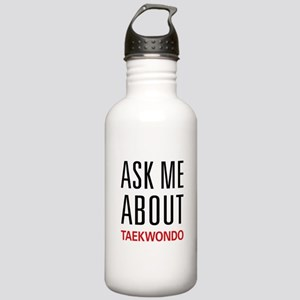 Ask Me About Taekwondo Stainless Water Bottle 1.0L