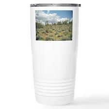 Cactus Pastoral Sweep Stainless Steel Travel Mug