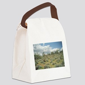 Cactus Pastoral Sweep Canvas Lunch Bag