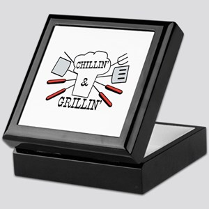 Chillin & Grillin BBQ Fun Keepsake Box