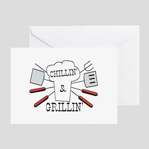 Chillin & Grillin BBQ Fun Greeting Card