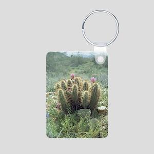 Desert Blooms Aluminum Photo Keychain