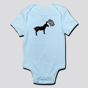 Donkey Says Kiss It With Kissy Lip Infant Bodysuit