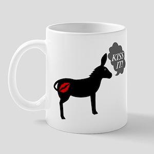Donkey Says Kiss It With Kissy Lips Mug
