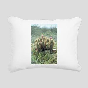Desert Blooms Rectangular Canvas Pillow