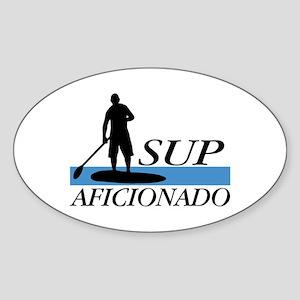 Stand Up Paddleboard Aficionado Sticker (Oval)