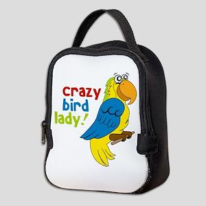 Crazy Bird Lady! Neoprene Lunch Bag