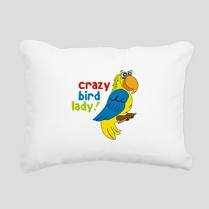 Crazy Bird Lady! Rectangular Canvas Pillow