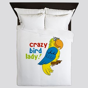 Crazy Bird Lady! Queen Duvet