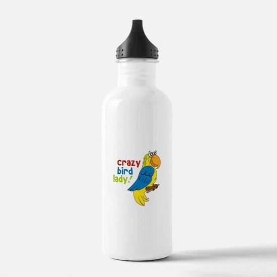 Crazy Bird Lady! Water Bottle