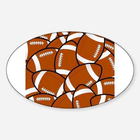 American Football Pattern Decal