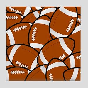 American Football Pattern Tile Coaster