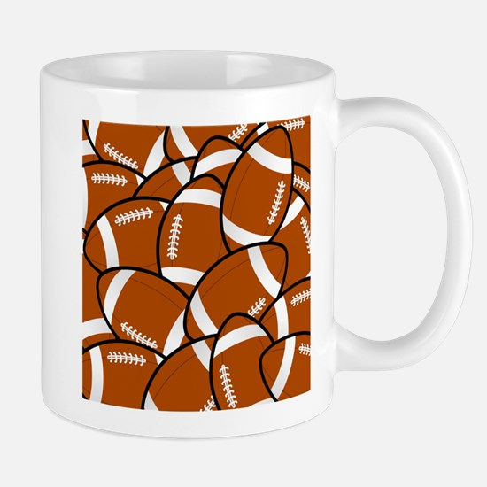 American Football Pattern Mugs