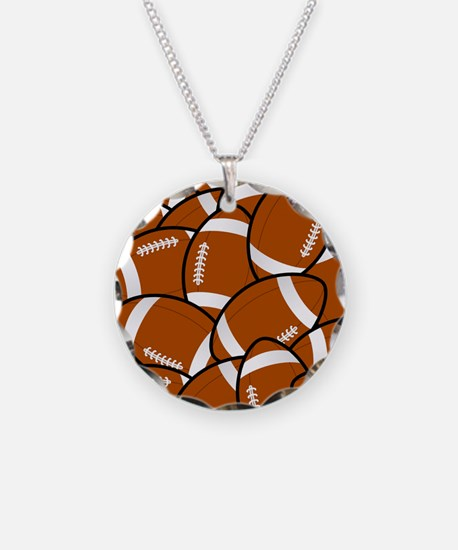 American Football Pattern Necklace