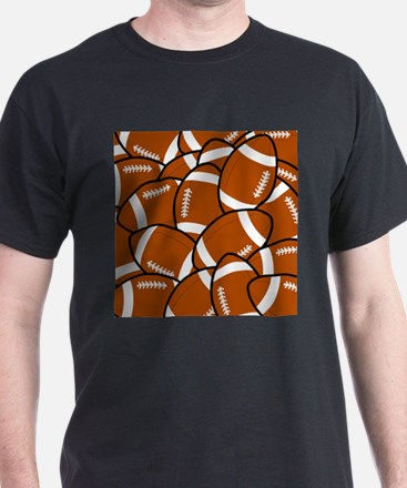 American Football Pattern T-Shirt