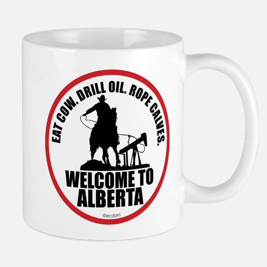 Alberta Calf Roper Round Mug