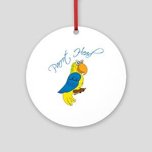Parrot Head Ornament (Round)
