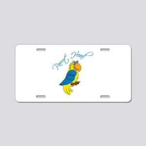 Parrot Head Aluminum License Plate