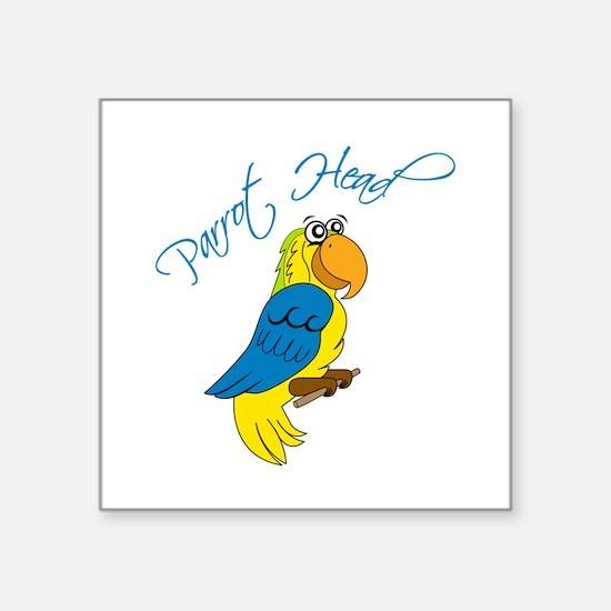 Parrot Head Sticker